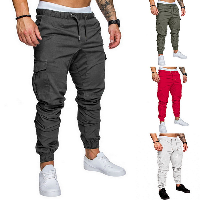 Mens Pants 2020 New Fashionable Overalls For Men Trousers Casual Pockets Solid Color Sweatpants Hip Joggers (Upgrated Version)