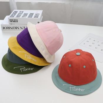 Baby Spring Summer Sun Hat Cotton Embroidery Alphabet Pattern Bucket Hat Toddler Girls Boys Outdoor Beach Cap fashion wifi signal pattern bucket hat for men