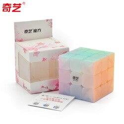 Qiyi 3x3 kostki galaretki kolor Stickerless 3x3x3 magiczne kostki 3 warstwy Speed Cube profesjonalne Puzzle zabawki dla dzieci dzieci prezent zabawka|Magiczne kostki|   -