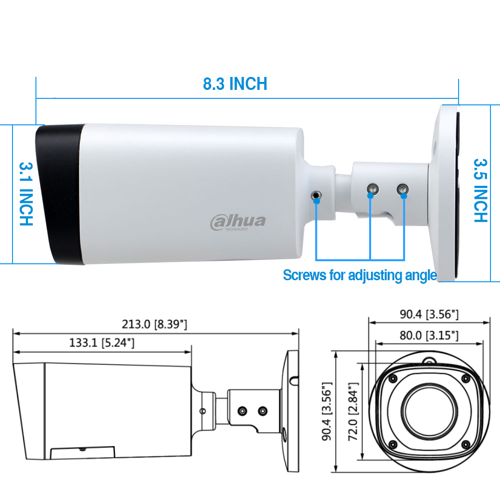 Dahua IPC-HFW4431R-Z 4MP POE IP Camera 80m MAX IR Night 2.7~12mm VF lens Motorized Zoom Auto Focus Bullet Security CCTV Camera