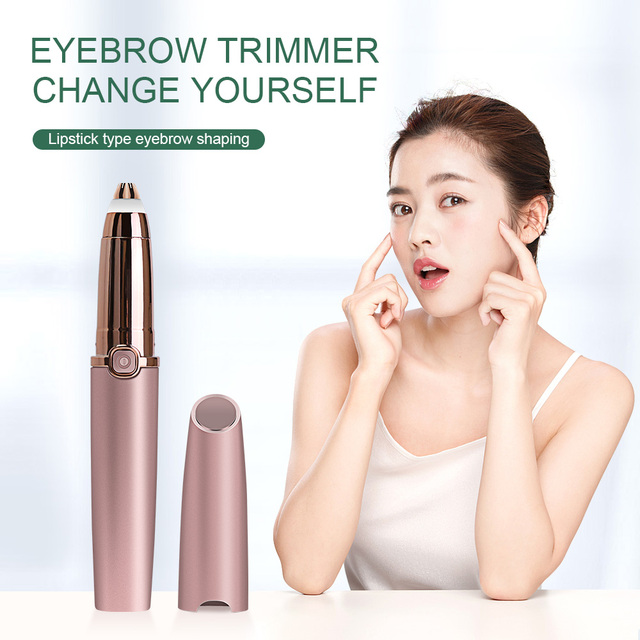 Eyebrow Trimmer Epilators Lipstick Brows Pen Hair Remover Epilator Shaver Razor Instant Painless Eyebrow Razor Epilator Portable 4
