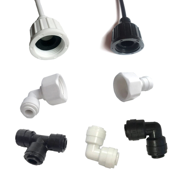 Heman 1/4'' PE Pipe Fitting Hose Quick Connector Adapter Aquarium Ro Water Filter Reverse Osmosis System image
