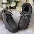 Shuanggun moda botas de neve para homens rendas sapatos de inverno real pele de carneiro couro natureza lã tornozelo botas curtas frete grátis