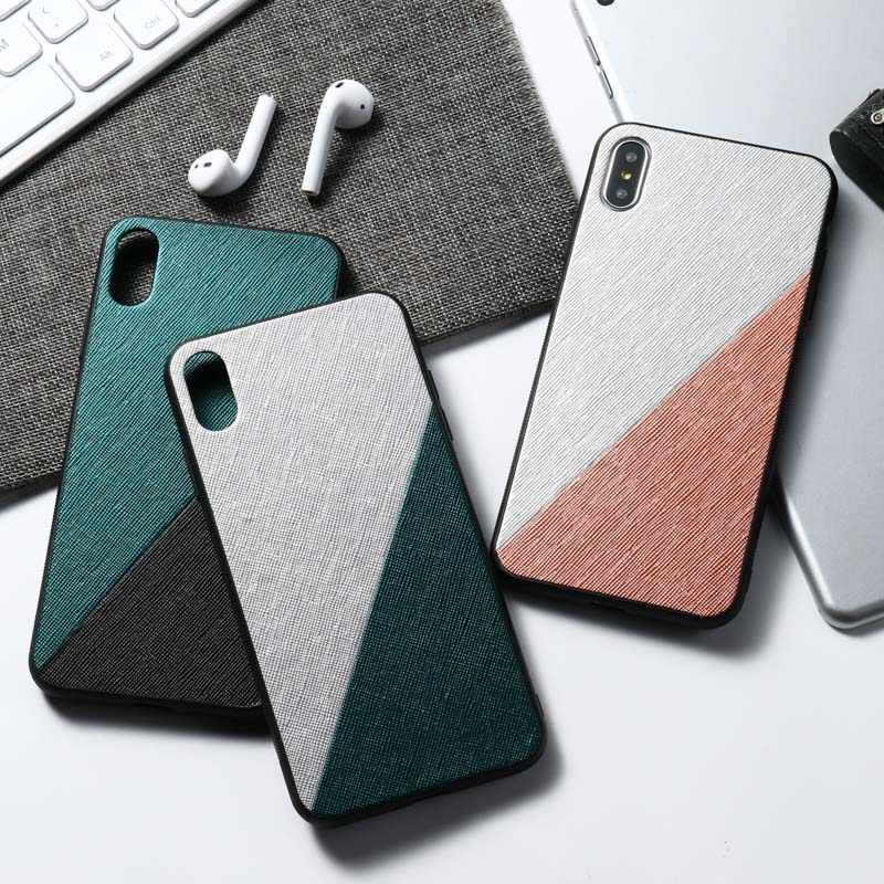 For Huawei Y6 2019 Case Cloth Texture Soft Silicone Funda For Huawei Y9 Prime 2019 Y5 Y7 Pro Prime 2017 2018 Case Capa Bumper