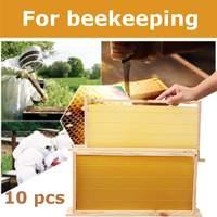 10pcs Honeycomb Wax Frames Beehive Base Sheets Beekeeping Honey Hive Equipment Bee Supplies