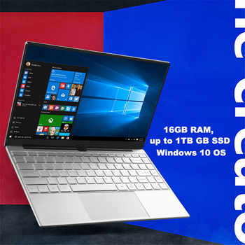 Metal Shell Windows 10 Laptop 8GB 16GB RAM Fingerprint Unlock Intel Celeron 3867U Netbook SSD Dual Band WiFi Backlit Keyboard