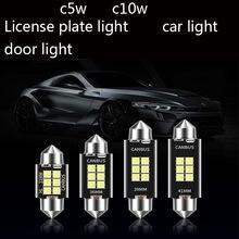 10PCS Bombilla LED Canbus Interior de coche, luces para matrícula 3014 SMD, 31mm, 36mm, 39mm, 41mm, C5W, C10W, sin error