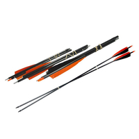 12pcS 2/3 Take Down Spine500 Pocket Carbon Arrows 100GR Tips 5inch Turkey Feather Compound Bow Archery Hunting