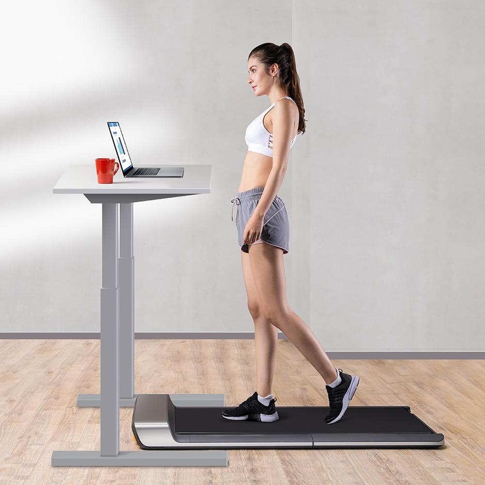 Walking Pad Ultra Thin Smart Folding Electric Walking Machine Treadmill 0.5 - 6km/h Manual Automatic Modes Lightweight Strong