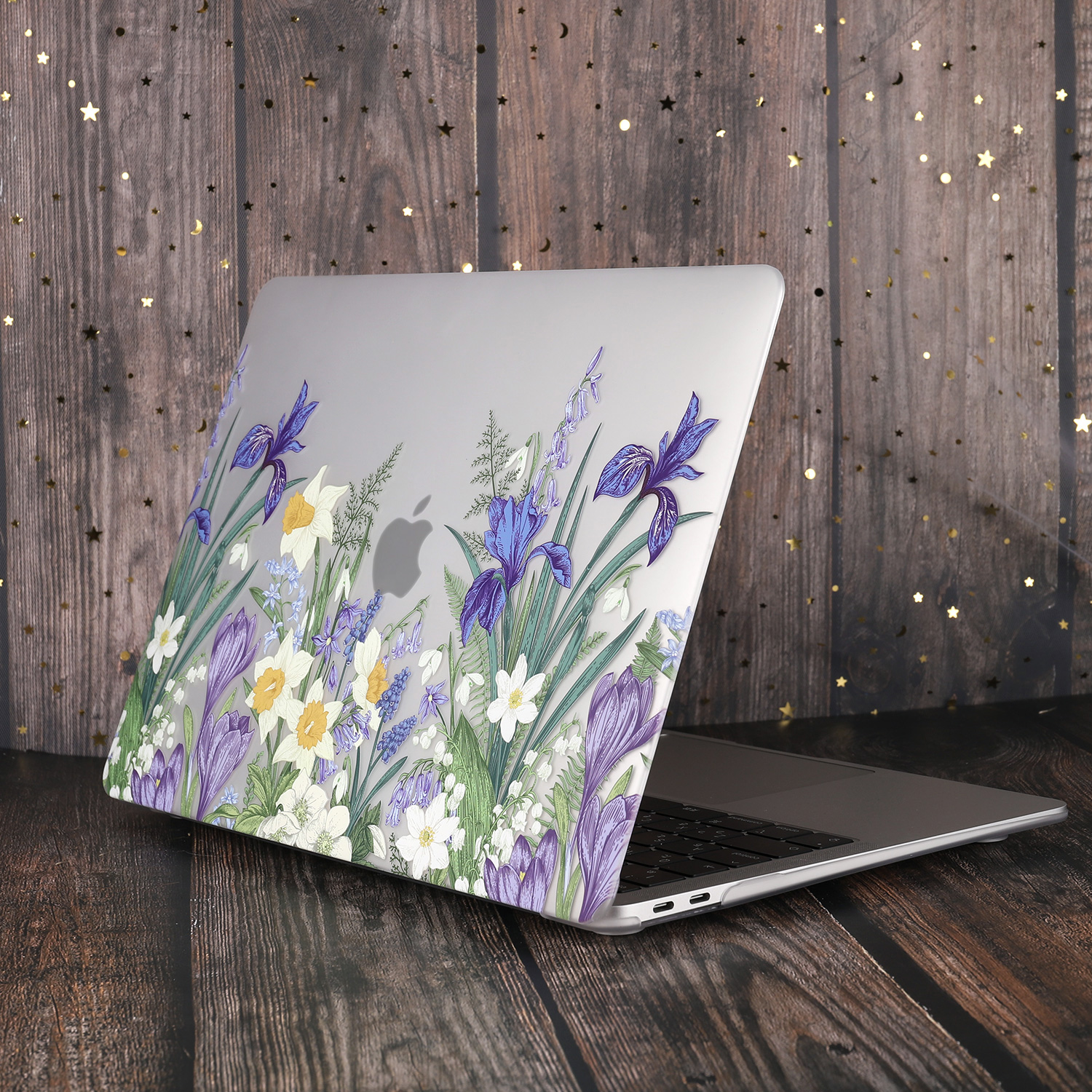 Marble Flower Pattern Case for MacBook 75