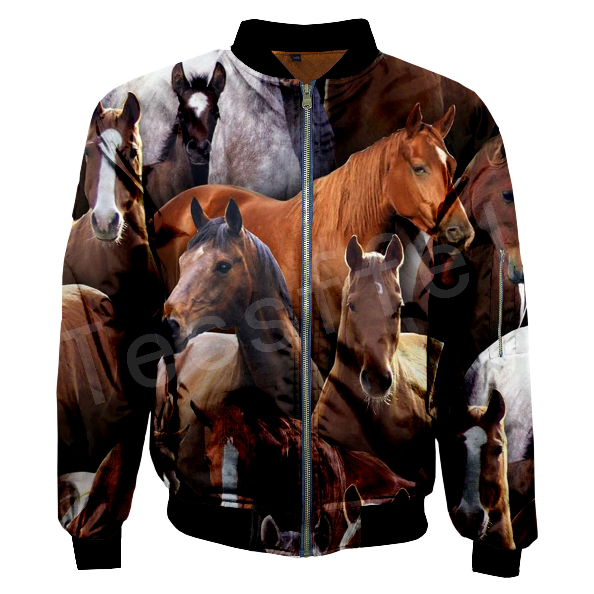 Tessffel Unisex Animal Love Horse Stronger Horse Tracksuit Casual Hot Style Men/Women 3DPrint Hoodies/Hoodie/Bomber Jackets S10
