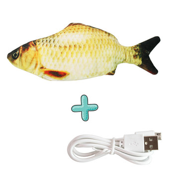 Moving Fish Cat Toy Electronic Flopping Cat Kicker Fish Toy Catnip Fish Toys for Cats Pet Supplies Funny Chew Toy for Indoor Cat 15