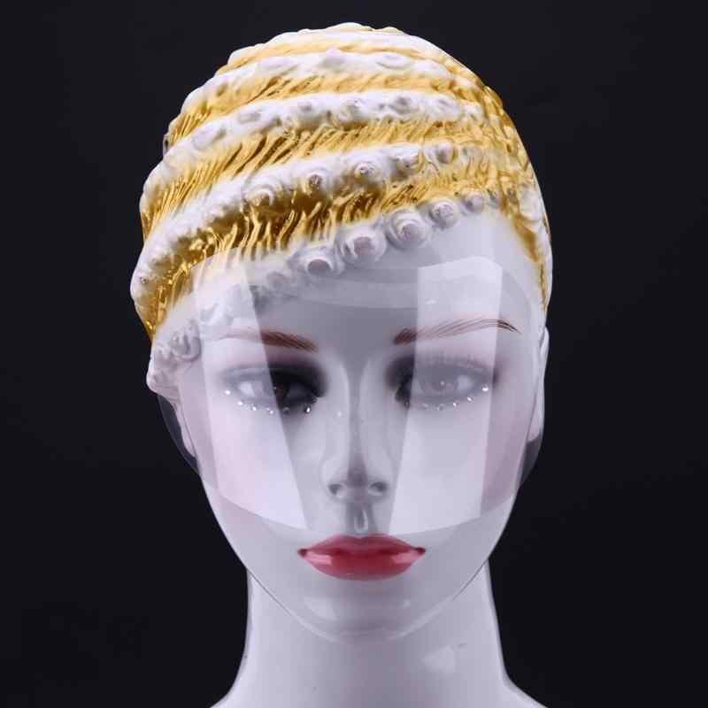 50 descarregada PCs Máscaras de Spray de Cabelo do Salão de Beleza Do Cabelo Colorido Corte para Testar Os Olhos eo Rosto Proteger Evitar face escudo