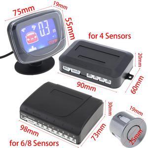 Image 5 - Weatherproof Car Auto Parktronic LCD Parking Sensor System 4 / 6 / 8 Sensors Reverse Backup Car Parking Radar Monitor Detector