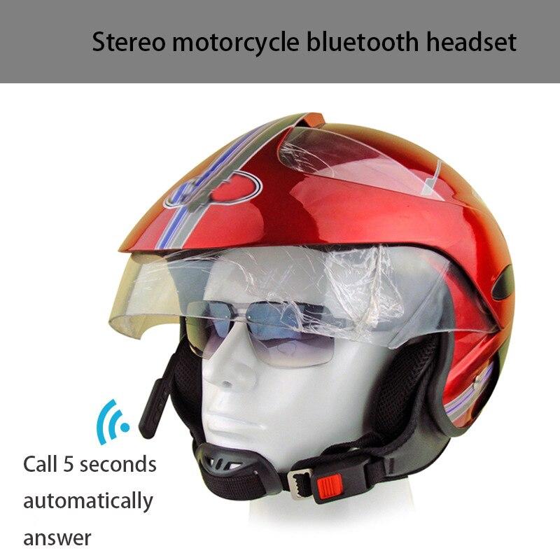 2019 New Motorcycle Helmet Bluetooth Anti-jamming Motorcycle Helmet Driving Hands-free Headset Audio Bluetooth Headset Helmet