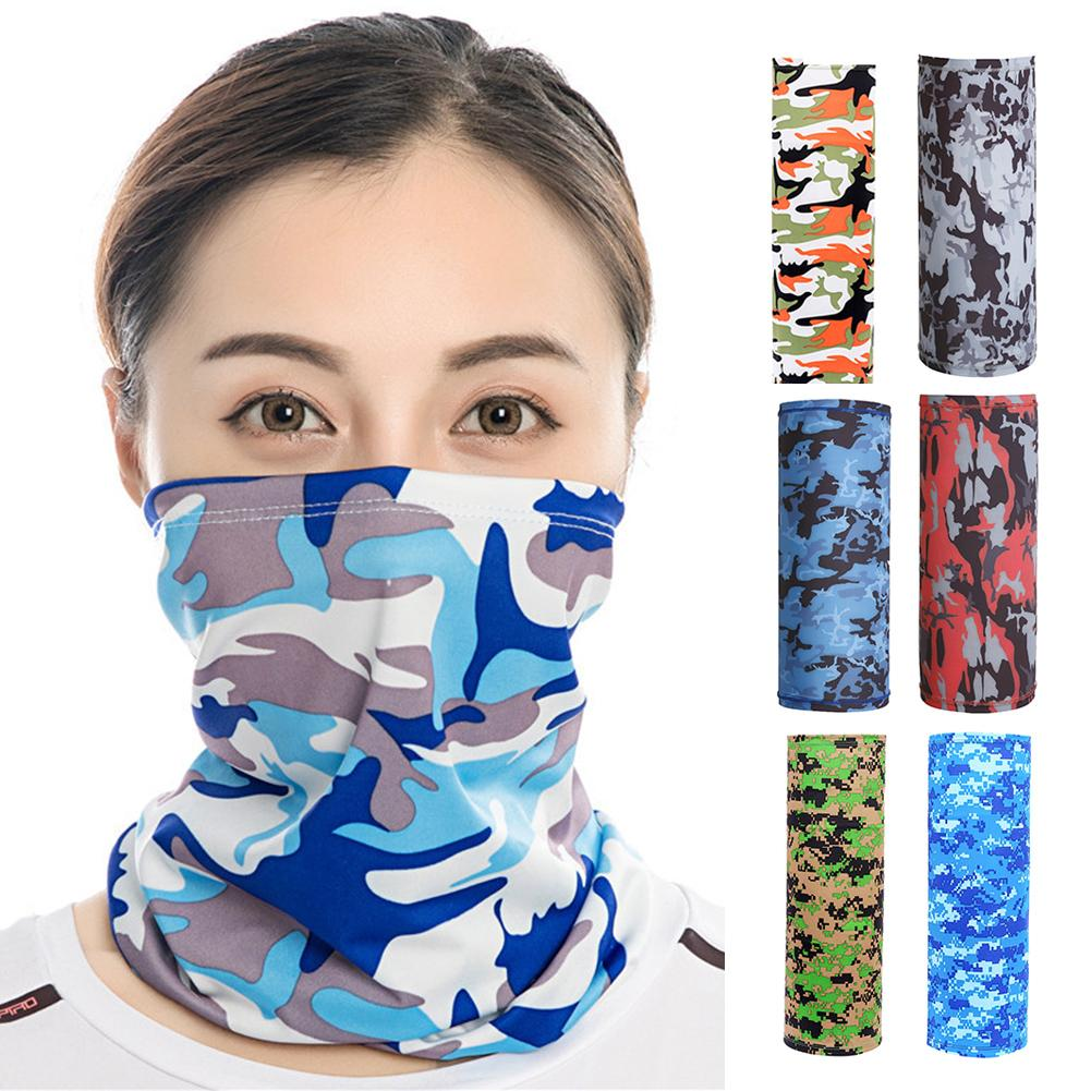 Unisex Camouflage Print Sunproof Dustproof Headband Neck Gaiter Scarf Face Mask Headgear Neck Gaiter Mask