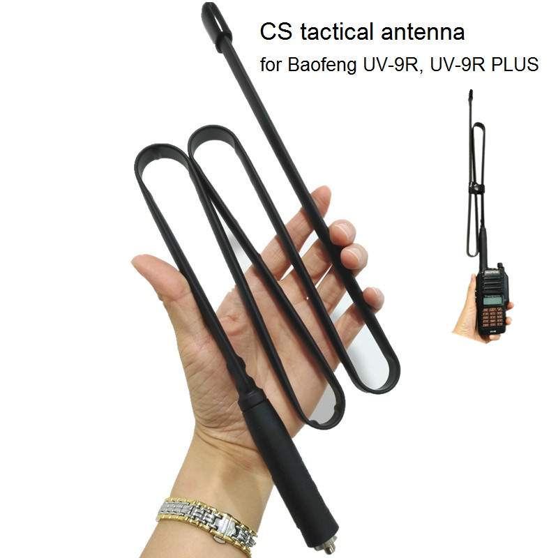 SMA-Female Foldable CS Tactical Antenna For UV-9R Walkie Talkie 144/430Mhz Ham CB Radio Transceiver For Baofeng UV-9R PLUS