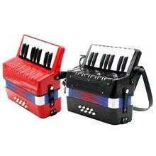 Детский аккордеон 17 ключей 8 бас музыкальный образовательный инструмент игрушка подарок