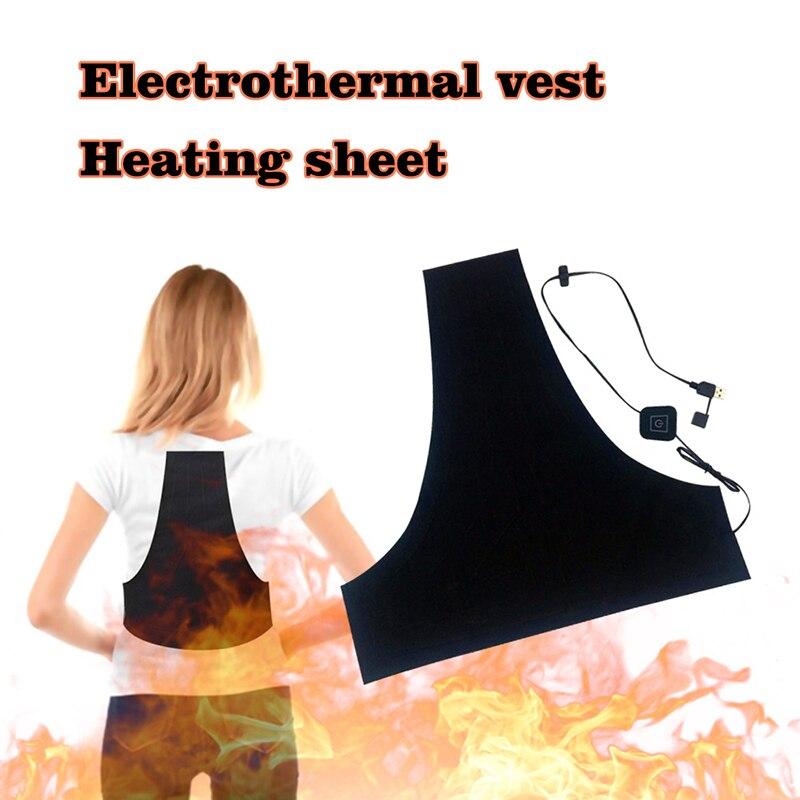 Spor ve Eğlence'ten Yürüyüş Yelekleri'de USB Elektrikli Ayarlanabilir Isıtma Yelek Pedi Sıcaklık Yıkanabilir Termal Kış Ceket Kıyafetleri Isıtmalı Isıtıcı title=