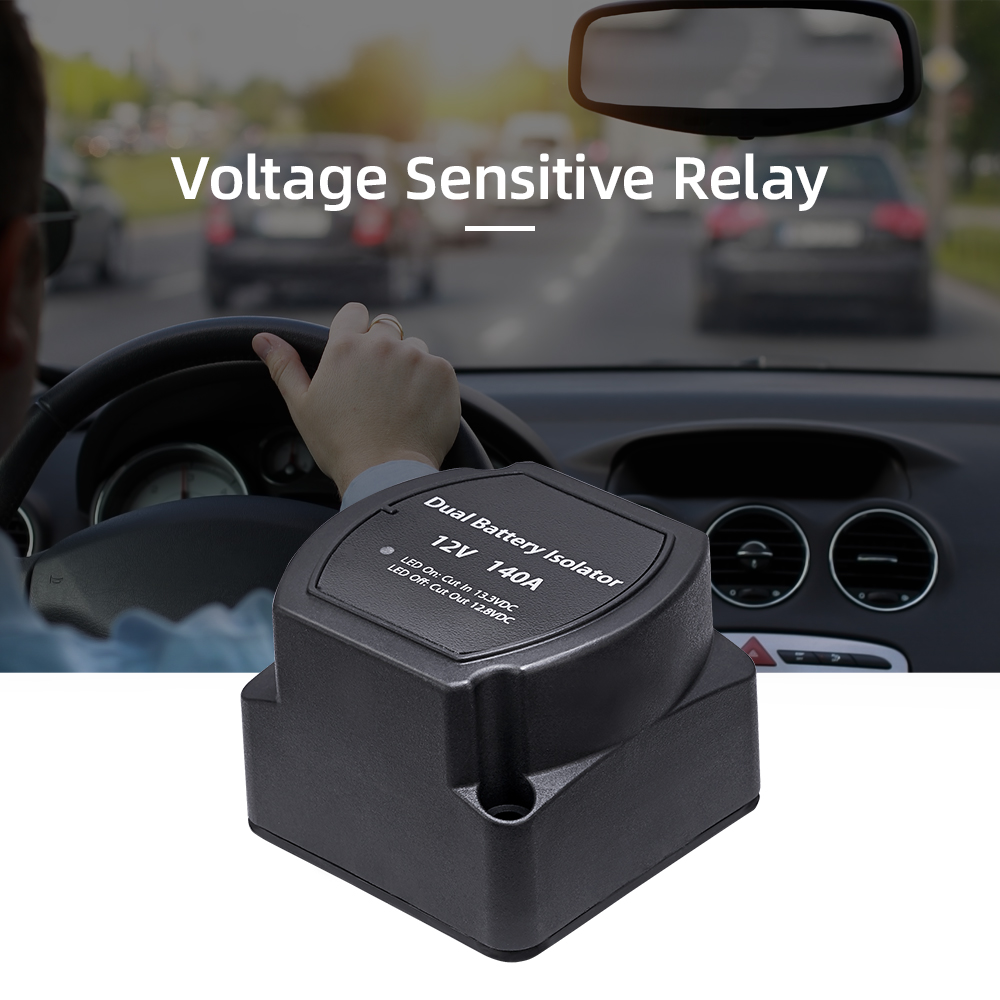 12V 140A Voltage Sensitive Relay Battery Isolator Automatic Charging Relay Car Accessories Car Battery Relay|Car Switches & Relays| |  - title=