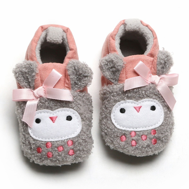 Baby Shoes 0-1 Years Old Baby Toddler Shoes Cute Animal Baby Unisex Baby Warm Cotton Shoes