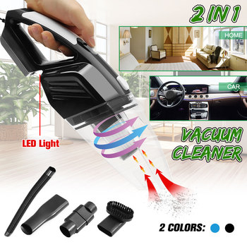 2 in 1 12V 120W Car Vacuum Cleaner Handheld Wet and Dry Dual Use Home Auto Car Caravan Vacuum Cleaner Dustbuster Cleaning Tool car vacuum cleaner wet and dry dual use 12v 120w high power cleaner 3700pa auto portable vacuum cleaner hepa