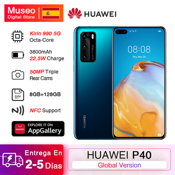Global version Huawei P40 5G Smartphone Kirin 990 8GB 128GB 50MP triple camera 6.1 ''Android 10 22.5W SuperCharge NFC