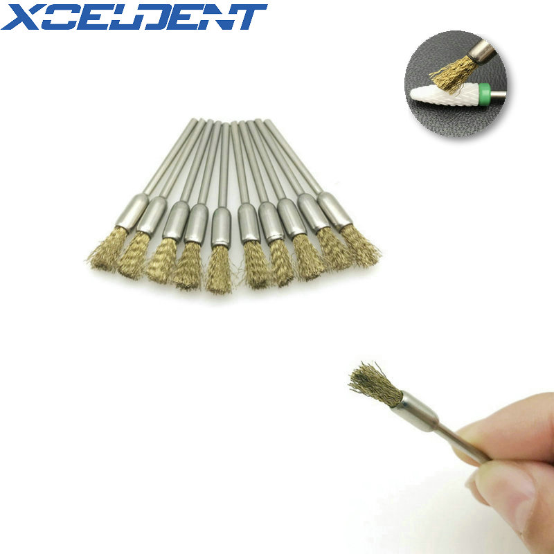 10pcs Dental Metal Wire Pen Shape Polishing Grinding Brush Motorcycle Rotary Tool