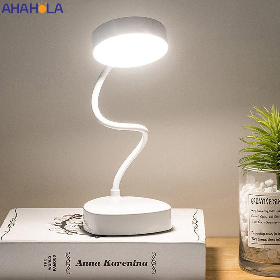 5 В USB светодиодный настольный светильник для гостиной Flexo портативный светодиодный светильник для чтения для кровати настольная подставка ...