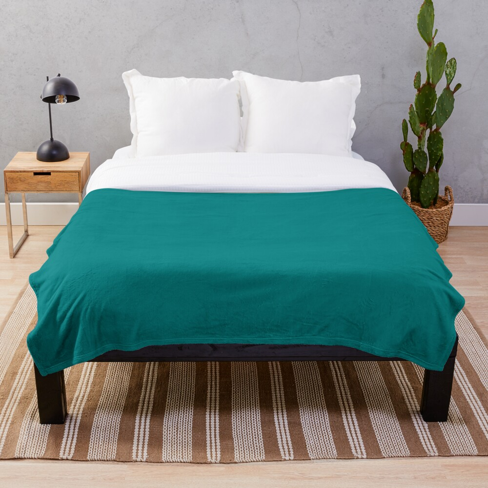 Plain Solid Teal Color Hex RGB 008080 Cheape Throw Blanket Soft Sherpa Blanket Bed Sheet Single Knee Blanket Office Nap Blanket