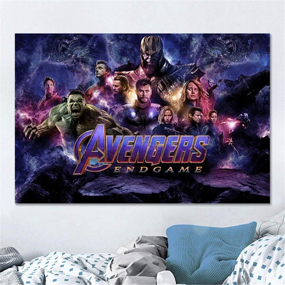 Современная Настенная живопись Мстители персонаж эндшпиль Железный человек Тор Капитан Америка постеры картина холст домашний декор