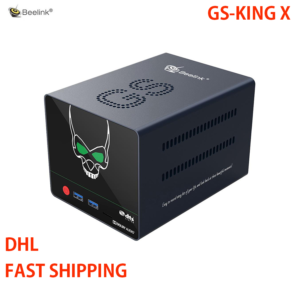 Beelink GS-KING X Smart Android 9.0 TV Box Amlogic S922X-H 4GB DDR4 64GB ROM Dolby Audio DTS Listen 4K HD Hi-Fi Media Player