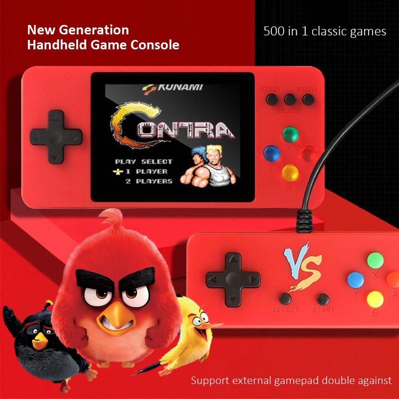 Nova geração handheld jogador de jogo com 3.0 Polegada lcd retro vídeo game console embutido 500 jogos de bolso console para crianças adulto