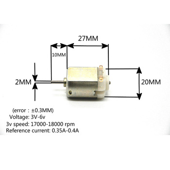 130 dc motor Small DC motor 3V-6V Miniature motor four-wheel motor small image