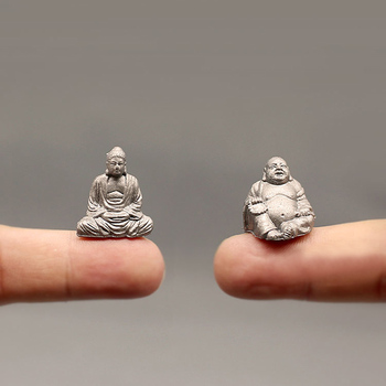 NEW~1Pcs Maitreya Buddha statue/fairy garden gnome/moss terrarium home decor/crafts/bonsai/bottle garden/miniature/figurine 1