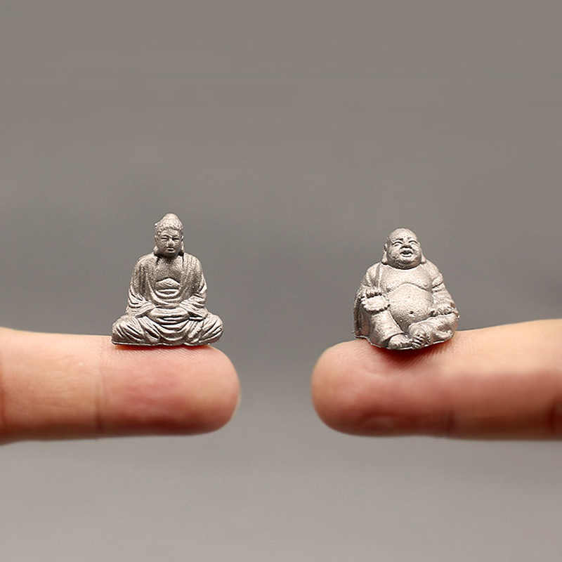 NEW~1Pcs Maitreya Buddha statue/fairy garden gnome/moss terrarium home decor/crafts/bonsai/bottle garden/miniature/figurine