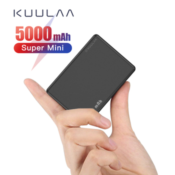 KUULAA Mini Power Bank 5000mAh Type C Powerbank 5000 mAh Portable Charger External Battery Charger For mi 9 10 Samsung iphone image