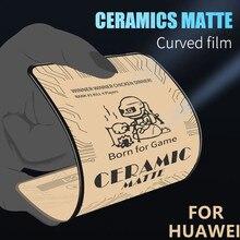 Protecteurs d'écran givré mat céramique pour huawei P40, verre trempé, P20, P30 Lite, Mate 30, Mate 20, Honor 10, 30I, 8X, 8A, 7A, 9X Pro, 2/1 pièce,