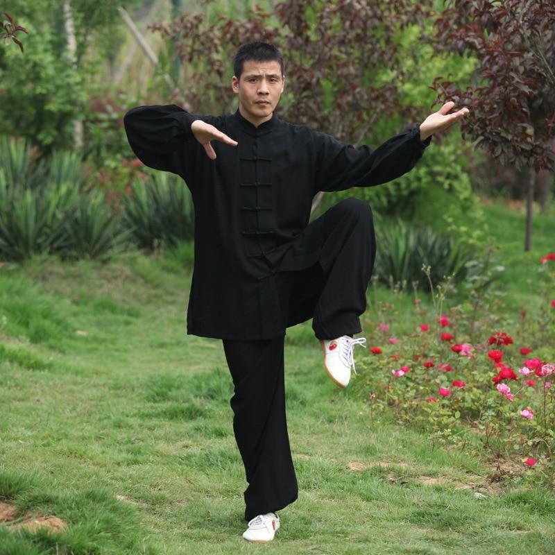 Tai Chi Униформа ушу, кунг фу, боевые искусства костюм, традиционный китайский стиль одежды крыла костюм для вин Чунь|Наборы| | АлиЭкспресс