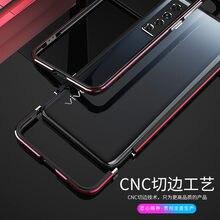 Protetor de câmera de metal quadro para vivo x50 x 50 pro 4g alumínio metal amortecedor quadro magro capa telefone caso