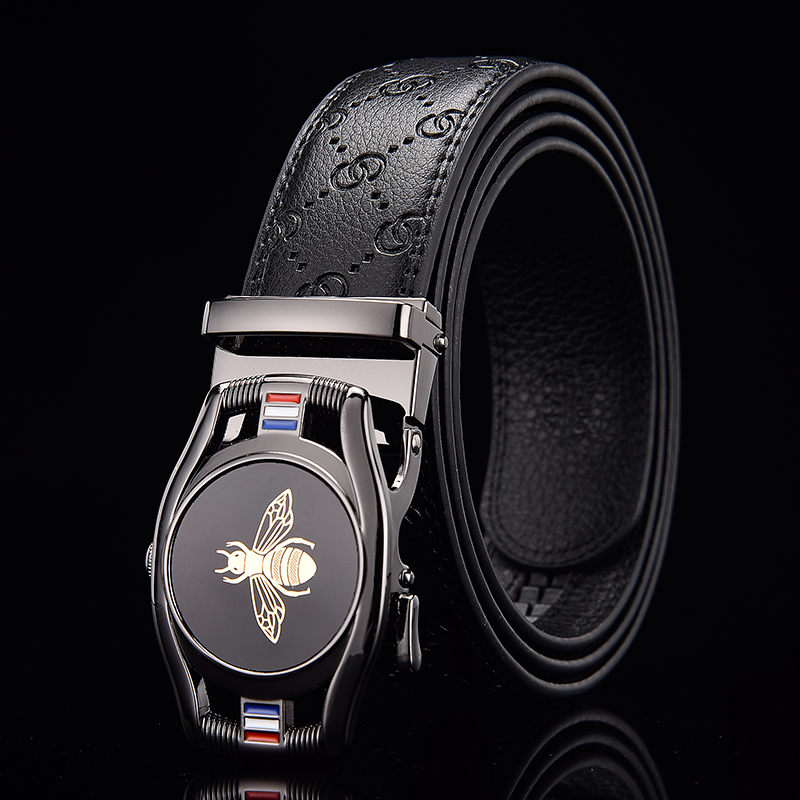 2020 New Men's Belt, Automatic Buckle, Famous Brand Men's Belt, Men's Luxury Belt, Stylish Leather Business Belt