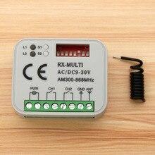 Courant alternatif universel 12 24V 2 canaux contrôleur Multi récepteur universel RX MULTI ca/DC9 30V 300 868MHz