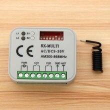 Controlador universal rx multi do receptor da c.a. 12-24v 2 do canal/DC9-30V 300-868mhz