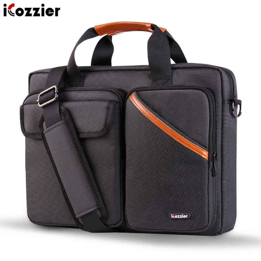 ICozzier 13-15.6 Inch Multi-Pocket Laptop Sleeve Briefcase Shoulder Bag Electronic Accessories Organizer Waterproof Carrying Bag