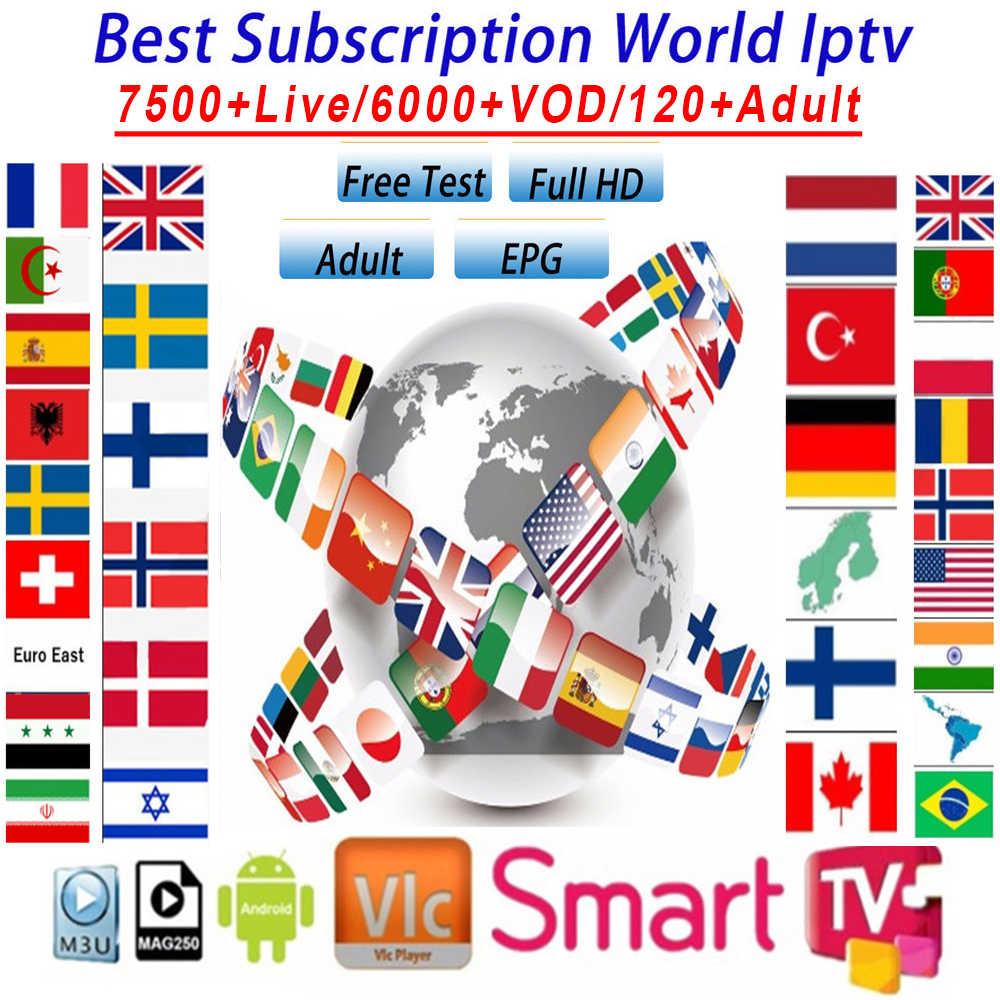 Światowa subskrypcja IPTV m3u 1 rok dla portugalii hiszpania francja włochy USA holenderska subskrypcja Iptv m3u dla smart tv z androidem Box A95X