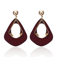 E0368 Bohemia Earrings Statement Jewelry Exaggerated Ethnic Hollow Out Geometric  Drop Earrings For Women Boho Style
