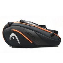 Сумка для тенниса, спортивная сумка, большая емкость 6-9, теннисные ракетки для спортивные сумки мужчин и женщин, мужская сумка для бадминтон...