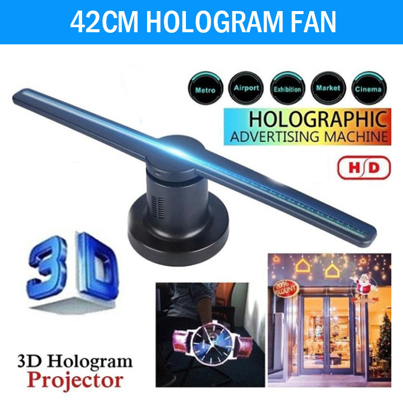 3D Hologram Dispaly Projector Fan New 3D Hologram Projector Fan 224 LEDs with 16G TF Holograms Party Decorations image