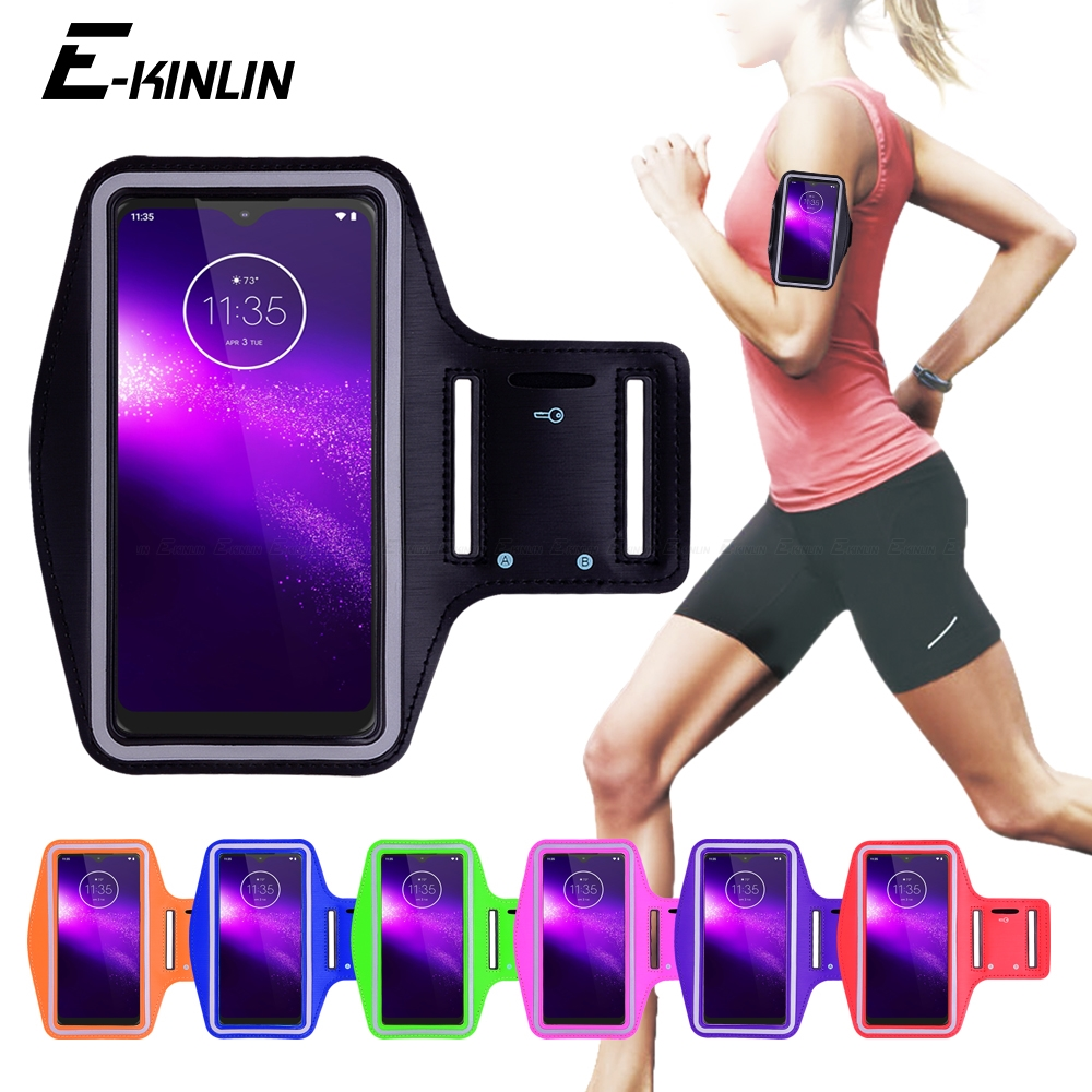 Running Gym Cycling Sport Phone Bag Cover For <font><b>Motorola</b></font> Moto One Power <font><b>vision</b></font> Hyper Zoom Macro Action Fusion Plus Arm Band <font><b>Case</b></font> image