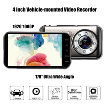 H33 4.0-inch HD 1080P Vehicle-mounted DVR Dual Lens 8-Lamp Infrared Night Vision Cam Short Wave Vehicle-mounted Video Recorder
